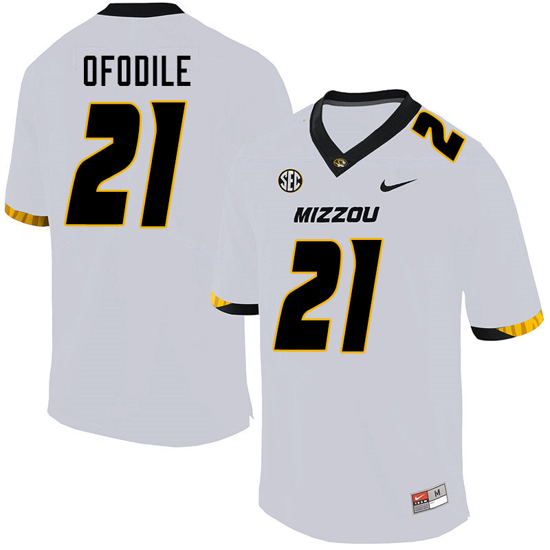Men #21 Alex Ofodile Missouri Tigers College Football Jerseys Sale-White